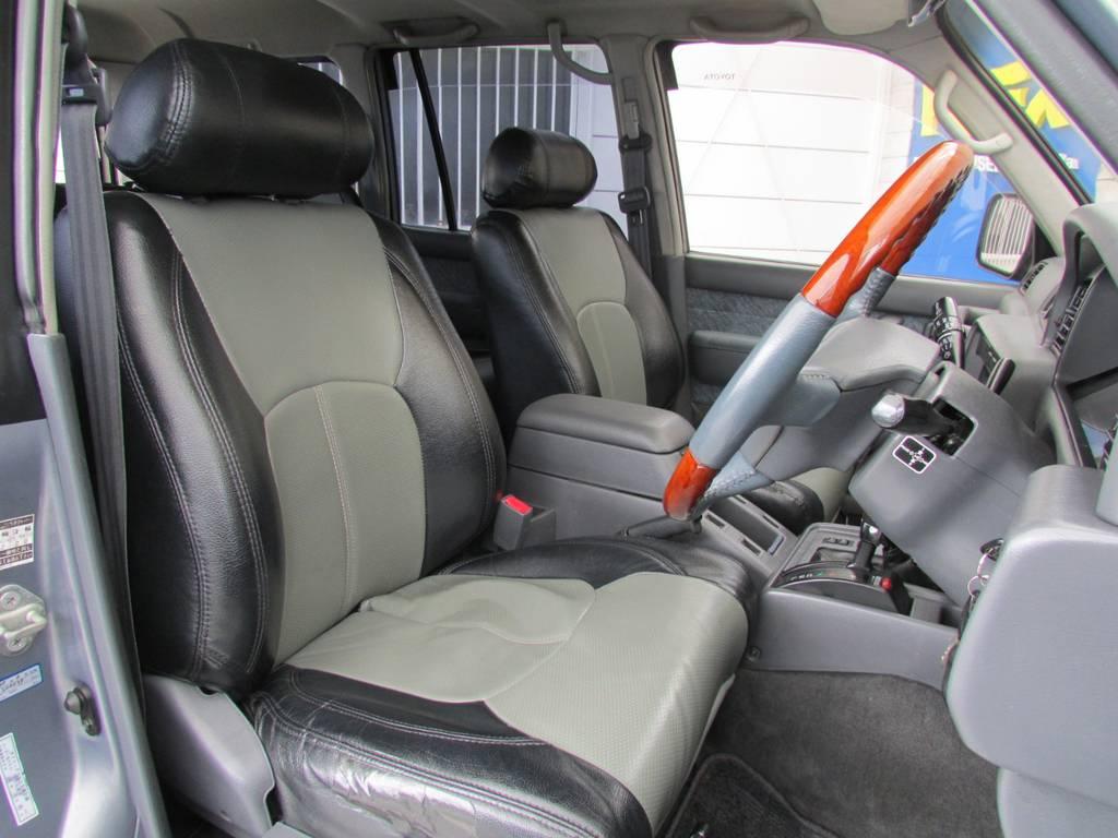 2トーンシートカバー♪お洒落ですね♪   トヨタ ランドクルーザー80 4.2 VX ディーゼル 4WD カスタム