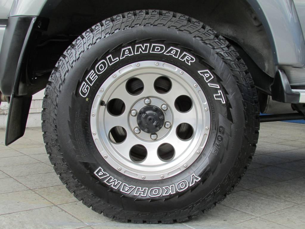 ヨコハマ ジオランダーATタイヤ♪   トヨタ ランドクルーザー80 4.2 VX ディーゼル 4WD カスタム