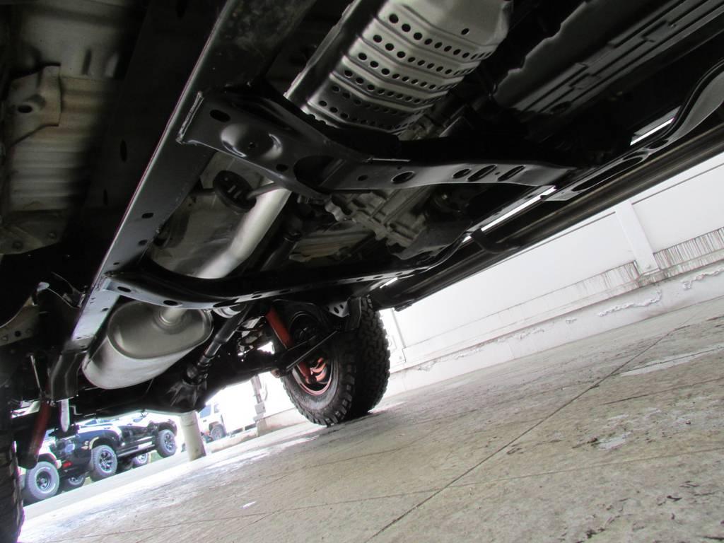 下廻りは高圧洗浄後パスター塗装仕上げ! | トヨタ ランドクルーザープラド 2.7 TX 4WD