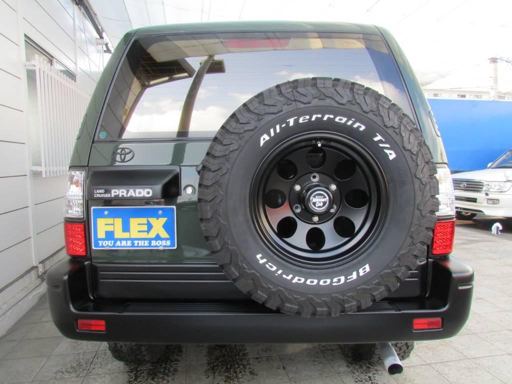 背面タイヤホイールも足元と同じものをインストール! | トヨタ ランドクルーザープラド 2.7 TX 4WD