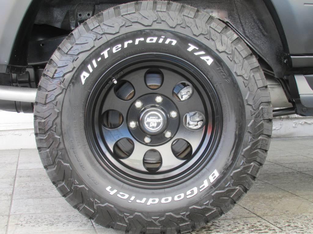 新品ジムライン16インチAWに新品BFグッドリッチATタイヤの組み合わせ! | トヨタ ランドクルーザープラド 2.7 TX 4WD