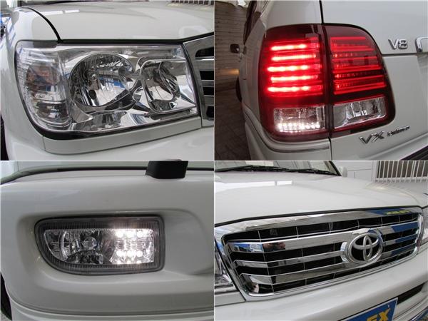 ヘッドライト、テール、フロントフォグ、グリルは全て新品装着! | トヨタ ランドクルーザー100 4.7 VXリミテッド 4WD Gセレクション