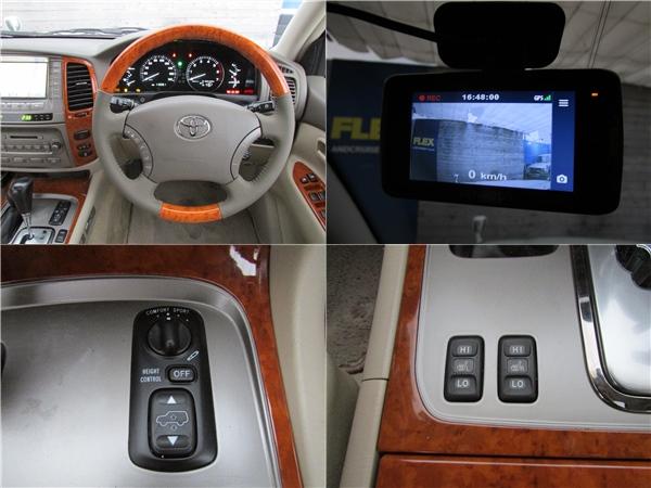 新品ウッドコンビハンドルにドライブレコーダーも装備済み! | トヨタ ランドクルーザー100 4.7 VXリミテッド 4WD Gセレクション