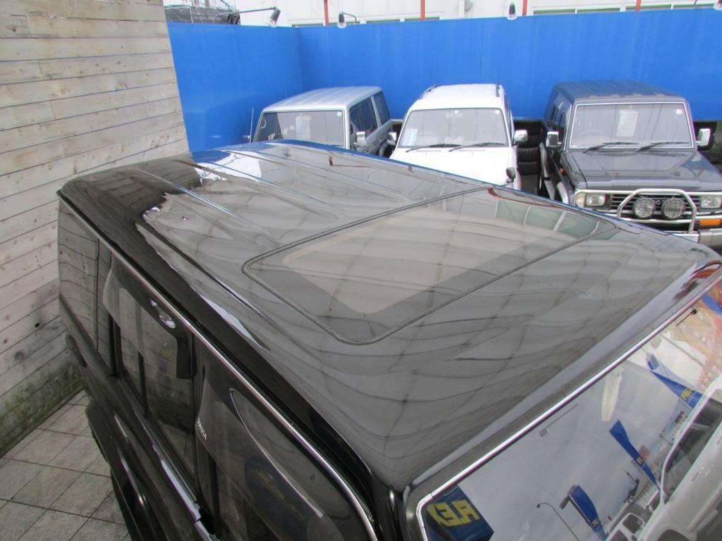 天井もキレイな状態です! | トヨタ ランドクルーザープラド 3.0 SXワイド ディーゼルターボ 4WD