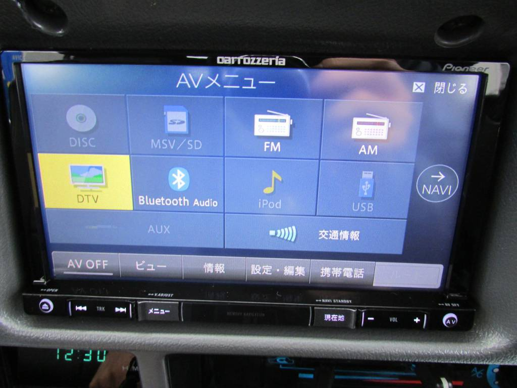 フルセグ、Bluetooth対応のSDナビもインストール済み! | トヨタ ランドクルーザープラド 3.0 SXワイド ディーゼルターボ 4WD