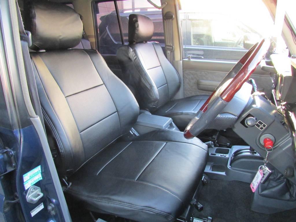 シートカバーも今回新品インストール! | トヨタ ランドクルーザー70 4.2 ZX ディーゼル 4WD