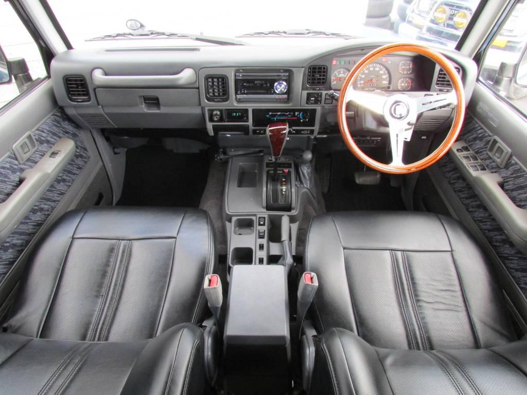 内装もカスタマイズ済み! | トヨタ ランドクルーザープラド 3.0 SXワイド ディーゼルターボ 4WD リフトアップ