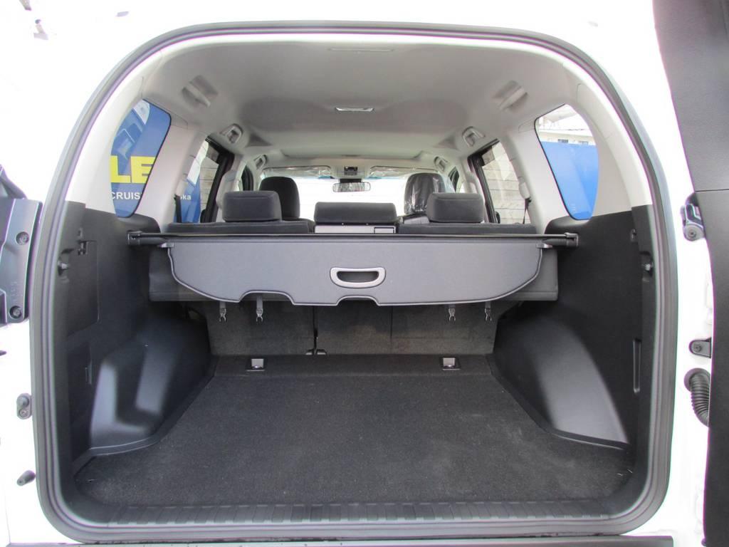 荷室も広々♪キャンプなどアウトドアを始めてみませんか? | トヨタ ランドクルーザープラド 2.8 TX ディーゼルターボ 4WD 新車コンプリート