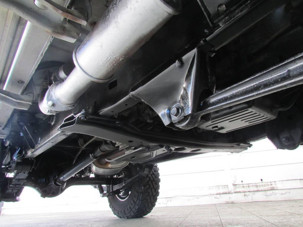 下廻りは高圧洗浄後パスター塗装仕上げ! | トヨタ ランドクルーザー70 4.2 ZX ディーゼル 4WD リフトアップ