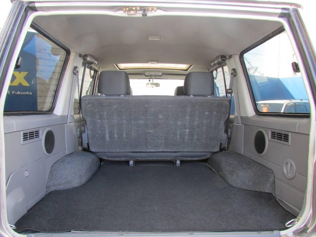 荷室も広々!!ラゲッジマットは新品インストール! | トヨタ ランドクルーザー70 4.2 ZX ディーゼル 4WD リフトアップ