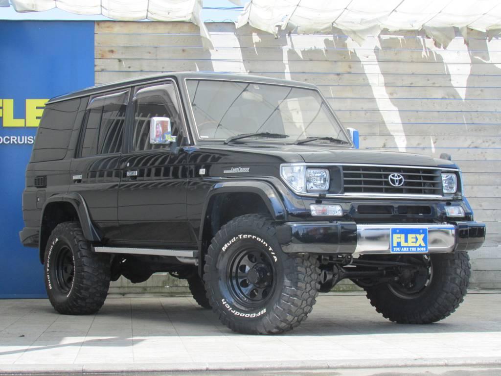人気のブラックカスタムシリーズ!!走行距離も16万キロ台で少なめです! | トヨタ ランドクルーザープラド 3.0 EXワイド ディーゼルターボ 4WD フルカスタム