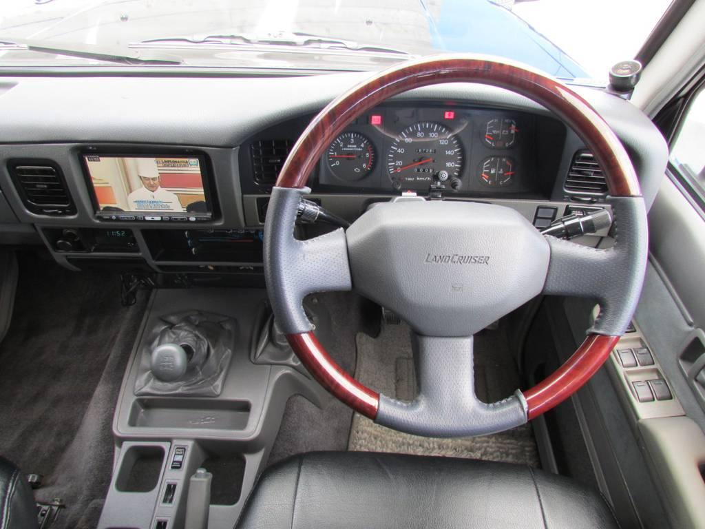 ウッドコンビハンドルもインストール済み! | トヨタ ランドクルーザープラド 3.0 EXワイド ディーゼルターボ 4WD フルカスタム