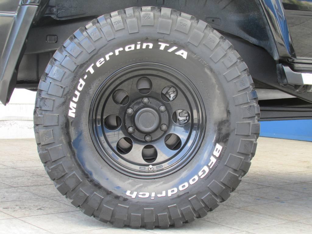 ジムライン15インチAWにBFグッドリッチMTタイヤの組み合わせ! | トヨタ ランドクルーザープラド 3.0 EXワイド ディーゼルターボ 4WD フルカスタム