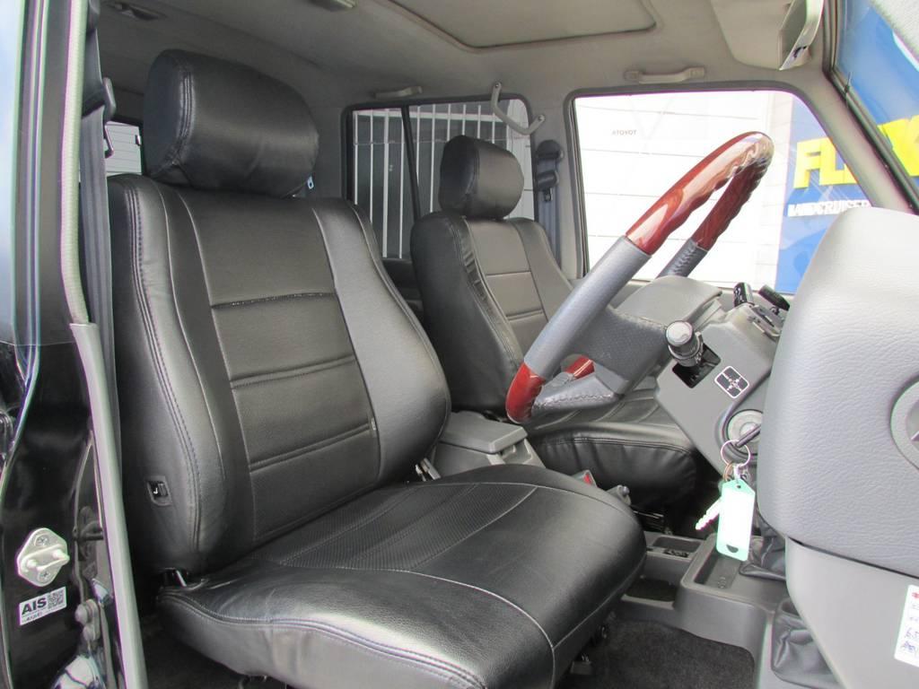 シートカバーもインストール済み! | トヨタ ランドクルーザープラド 3.0 EXワイド ディーゼルターボ 4WD フルカスタム