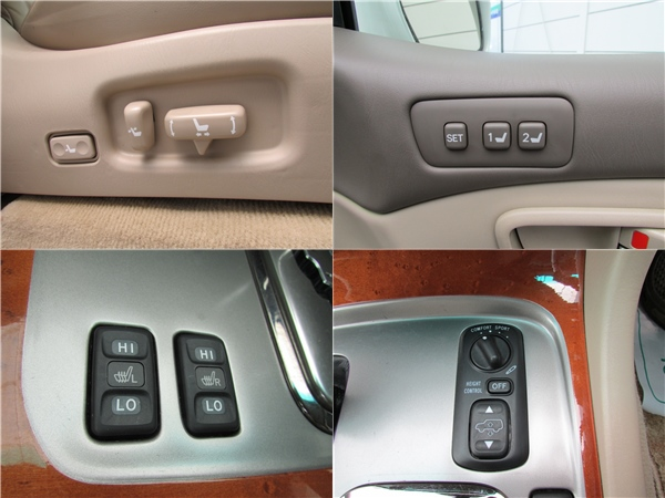 シートヒーター、アクティブハイトコントロール、シートメモリー付きパワーシートなど全て標準装備!