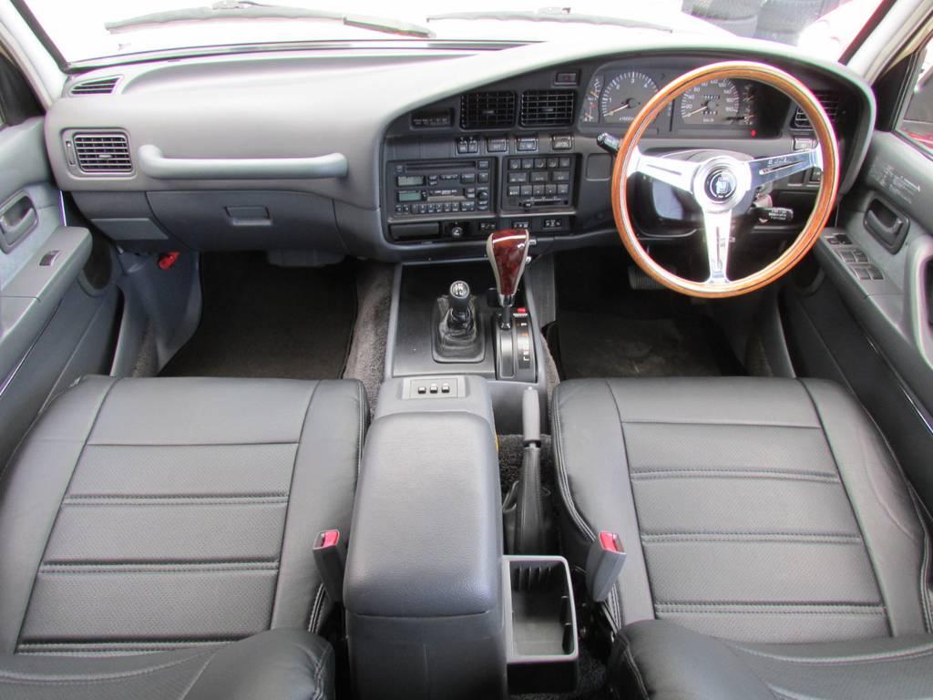 内装はシックにグレーのインテリア! | トヨタ ランドクルーザー80 4.5 VXリミテッド 4WD LC60フェイス換装