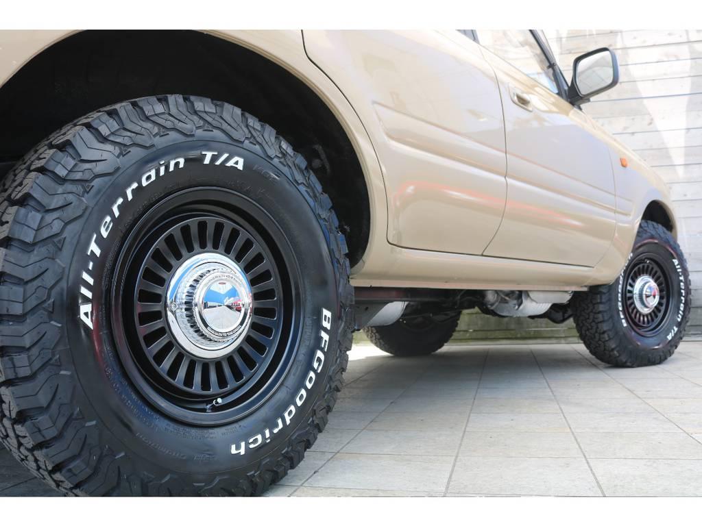 DEANカリフォルニア16インチAWにBFグッドリッチATタイヤをそれぞれ新品インストール! | トヨタ ランドクルーザー80 4.5 VXリミテッド 4WD LC60フェイス換装