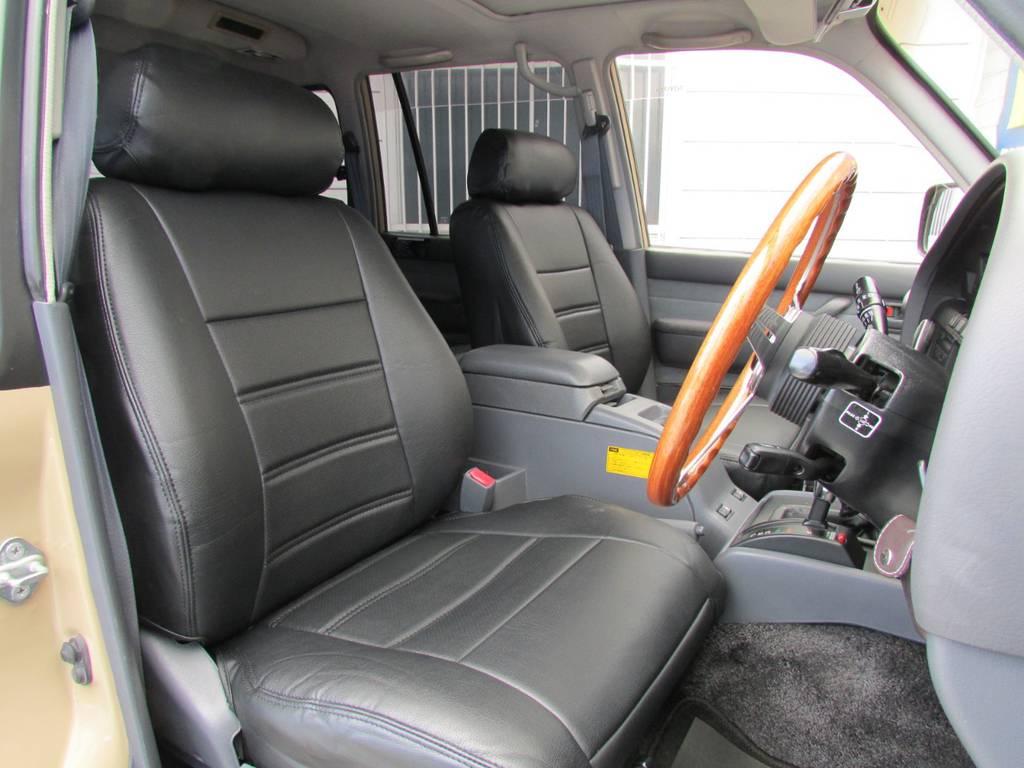 シートカバーも新品インストール! | トヨタ ランドクルーザー80 4.5 VXリミテッド 4WD LC60フェイス換装