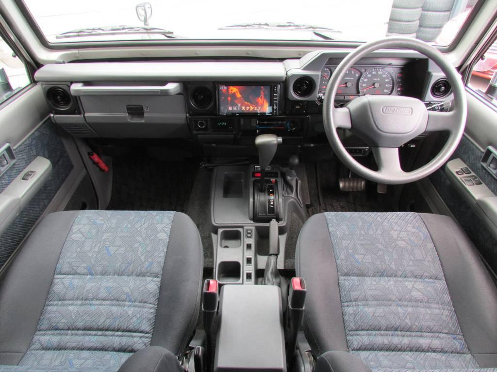 オートマ車ですので運転も楽々です♪ | トヨタ ランドクルーザー70 4.2 ZX ディーゼル 4WD FRPトップ