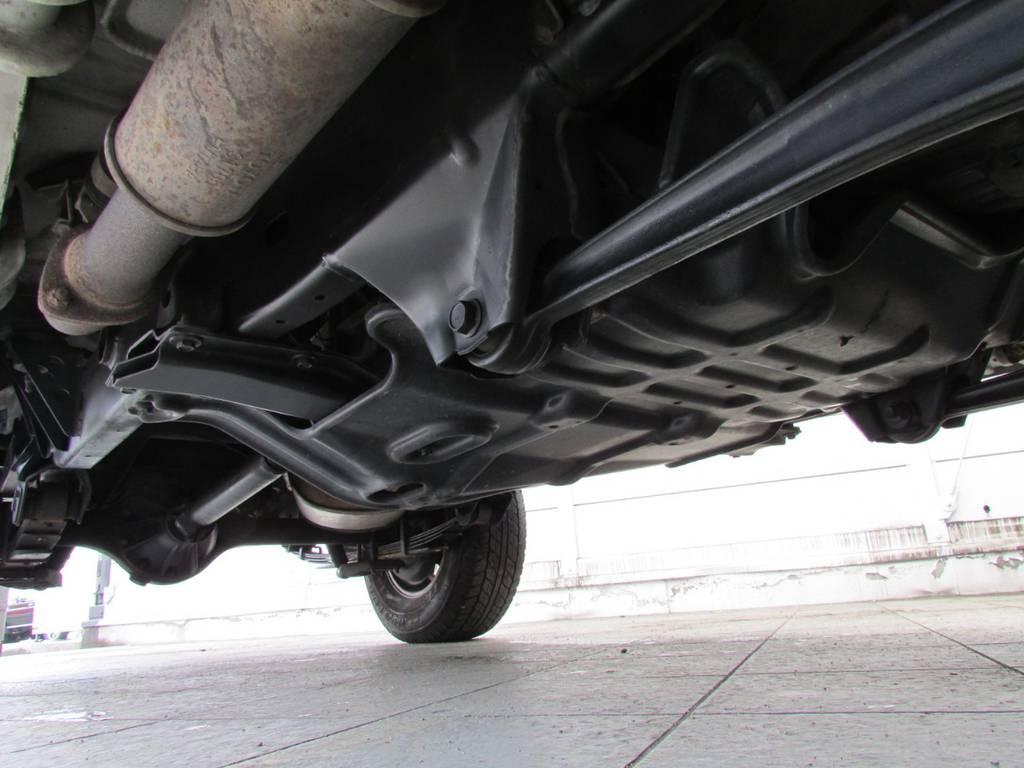下廻りは高圧洗浄後パスター塗装仕上げ! | トヨタ ランドクルーザー70 4.2 ZX ディーゼル 4WD FRPトップ