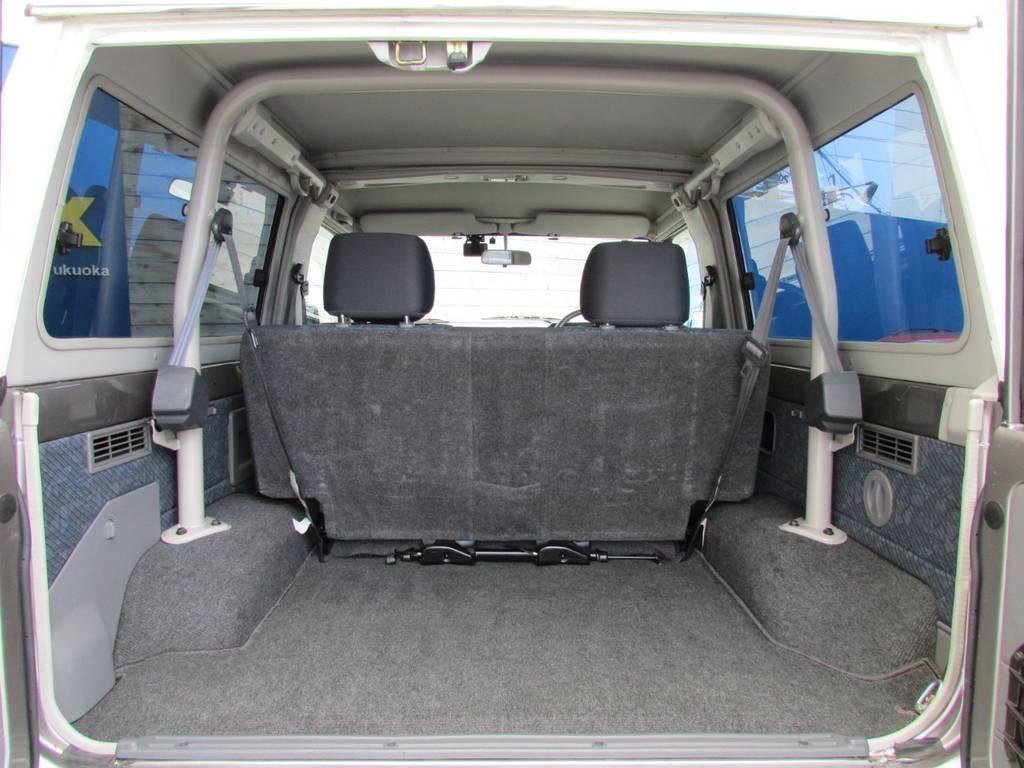 荷室も広々しております! | トヨタ ランドクルーザー70 4.2 ZX ディーゼル 4WD FRPトップ