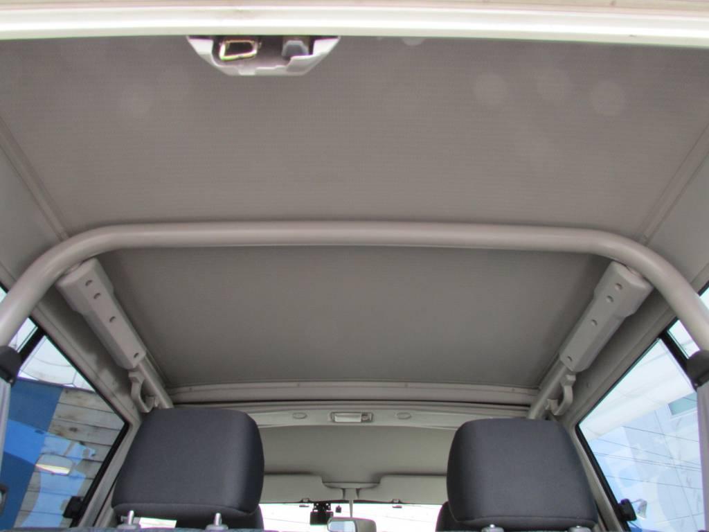 天張りもルームクリーニング済み! | トヨタ ランドクルーザー70 4.2 ZX ディーゼル 4WD FRPトップ