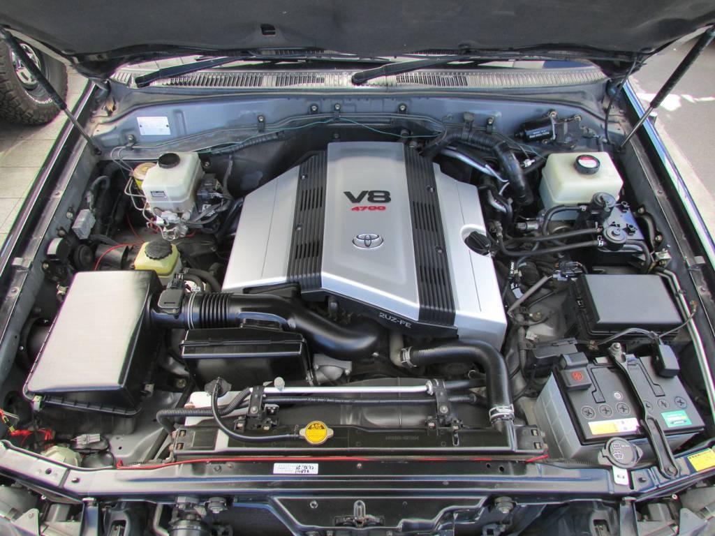 4700ccV8エンジン! | トヨタ ランドクルーザーシグナス 4.7 4WD プレミアムエディション