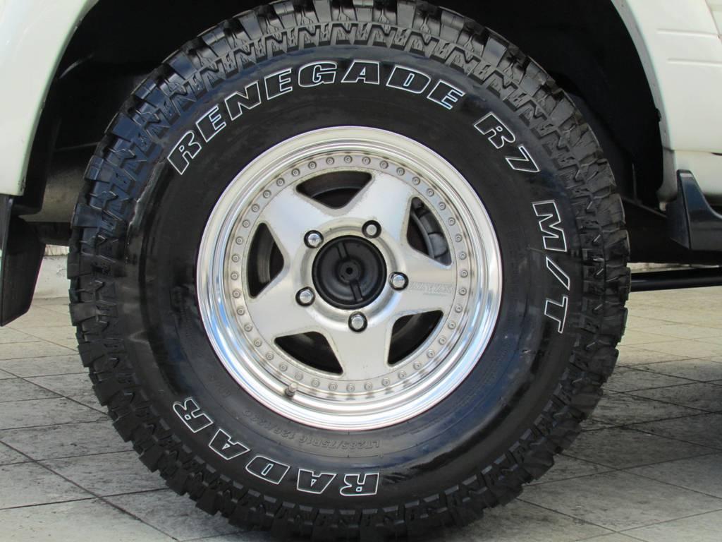 ZZYZX16インチAWにマッドタイヤの組み合わせ!