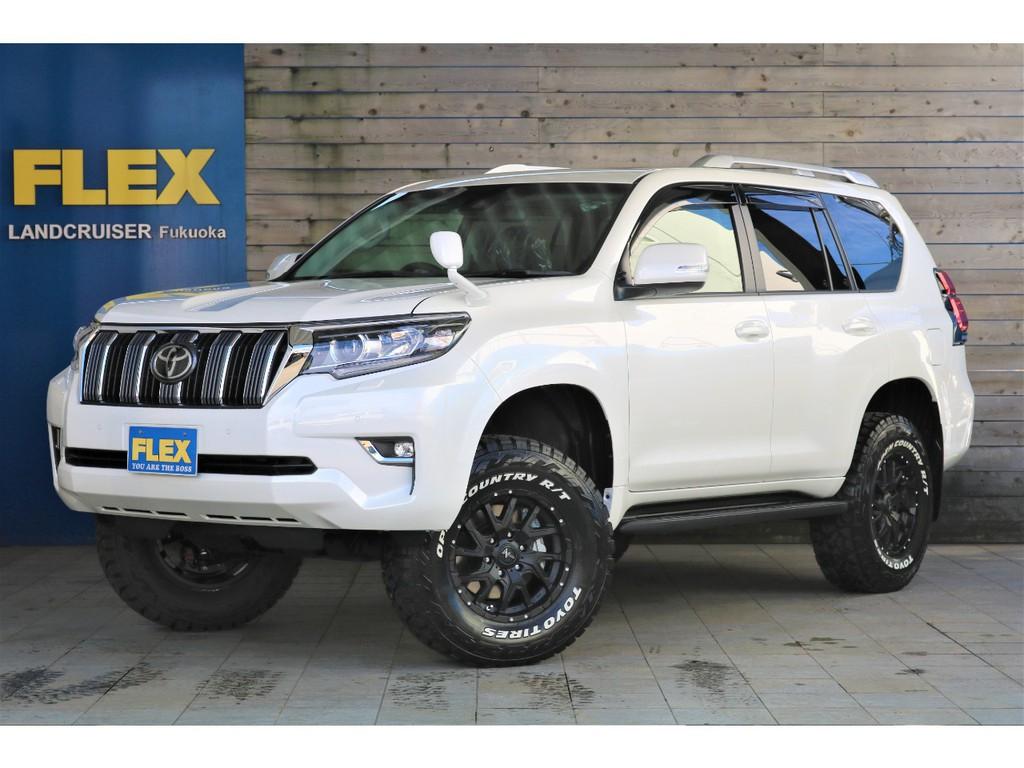 ランクル150プラド現行モデル、TX7人乗り、ガソリン車が新車コンプリートカスタムで完成です!