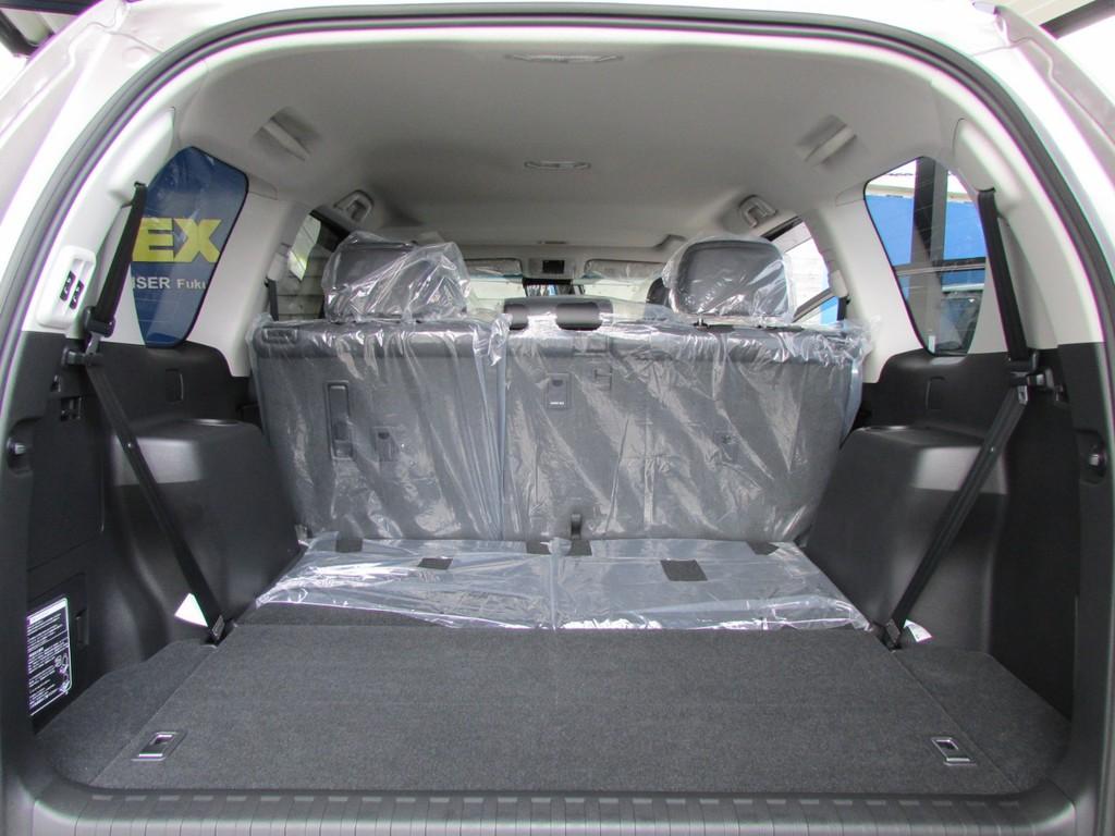 サードシートは床下格納できますので荷室も広々とご使用いただけます!