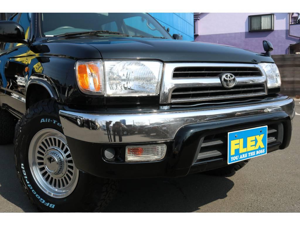 新品のクリスタルヘッドランプと、USコーナーレンズ!表情がガラッと変わります! | トヨタ ハイラックスサーフ 2.7 SSR-X Vセレクション 4WD