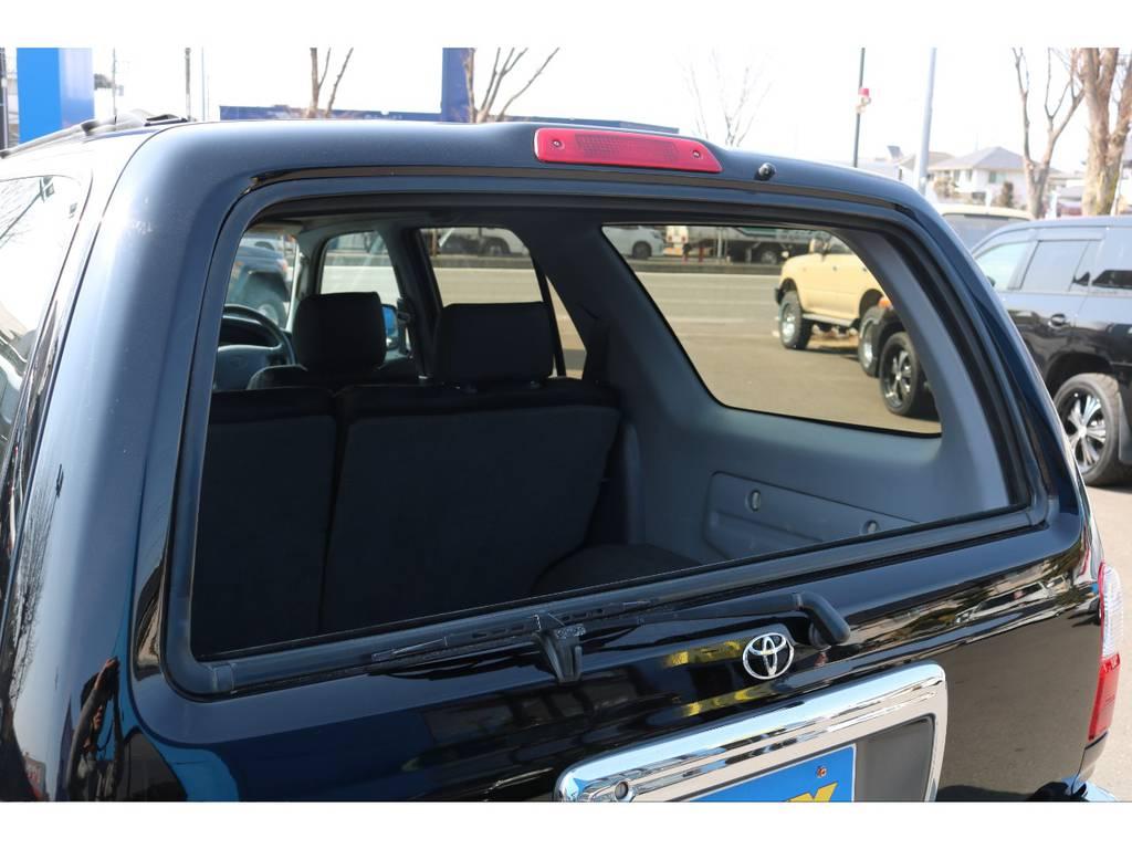 リアゲートガラスの開閉が可能!サーフの特徴の一つですね! | トヨタ ハイラックスサーフ 2.7 SSR-X Vセレクション 4WD