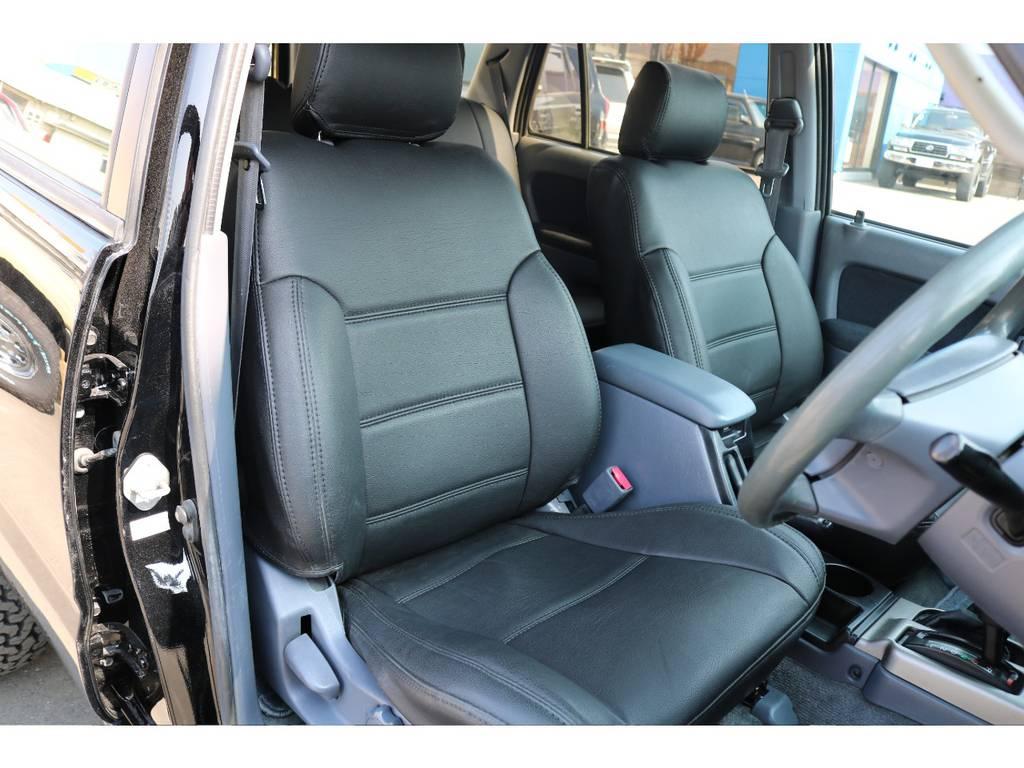 新品装着のブラックレザー調シートカバー! | トヨタ ハイラックスサーフ 2.7 SSR-X Vセレクション 4WD