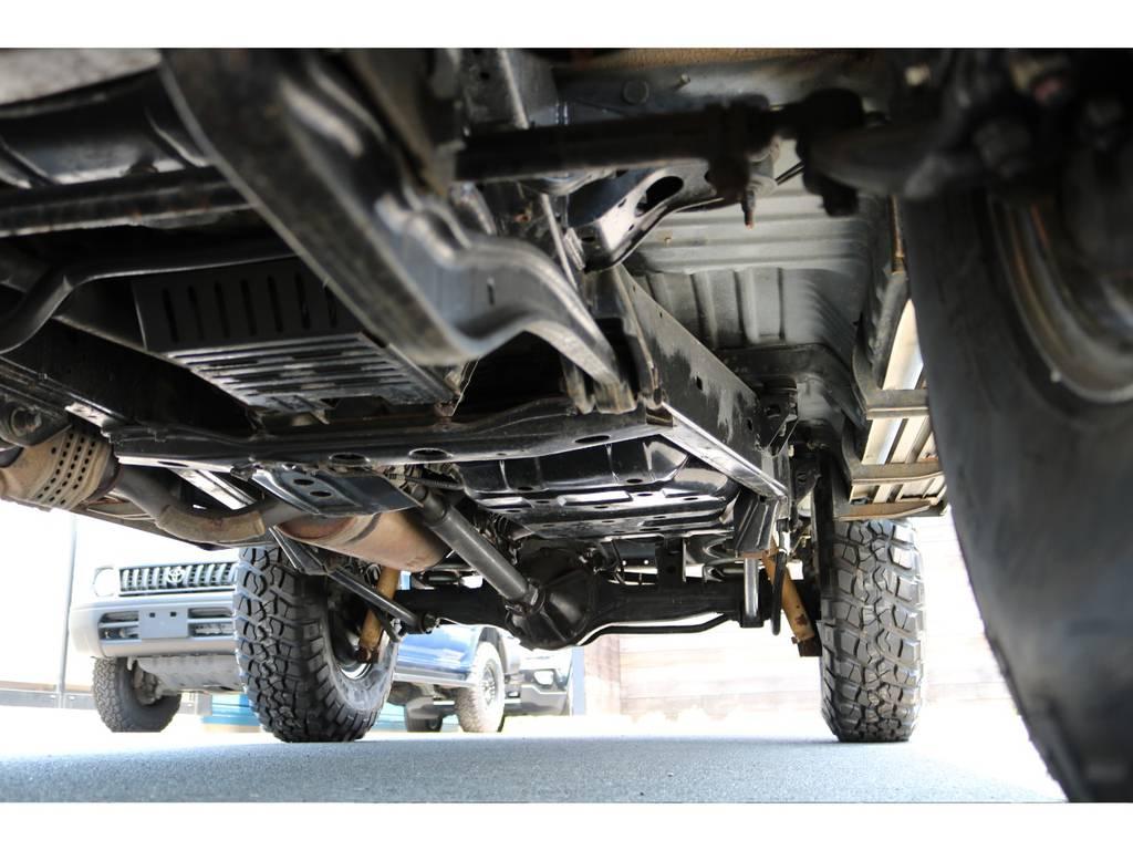 堅牢なラダーフレーム車!高圧温水洗浄後、防錆パスターを施工済み! | トヨタ ランドクルーザー80 4.5 VXリミテッド 4WD