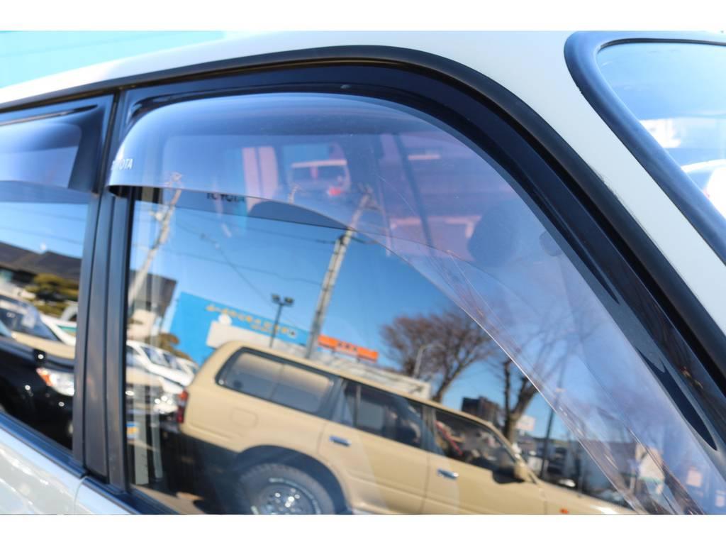 サイドバイザーも付いております! | トヨタ ランドクルーザー80 4.5 VXリミテッド 4WD