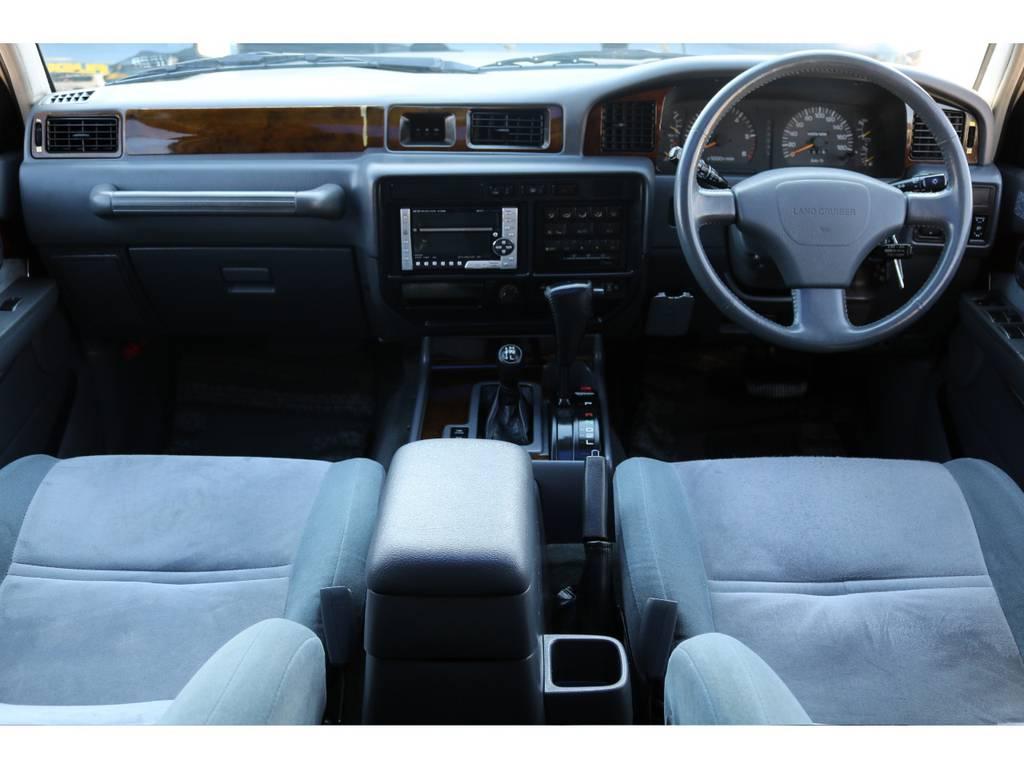 内装もパネル割れ等も無く綺麗な状態です! | トヨタ ランドクルーザー80 4.5 VXリミテッド 4WD