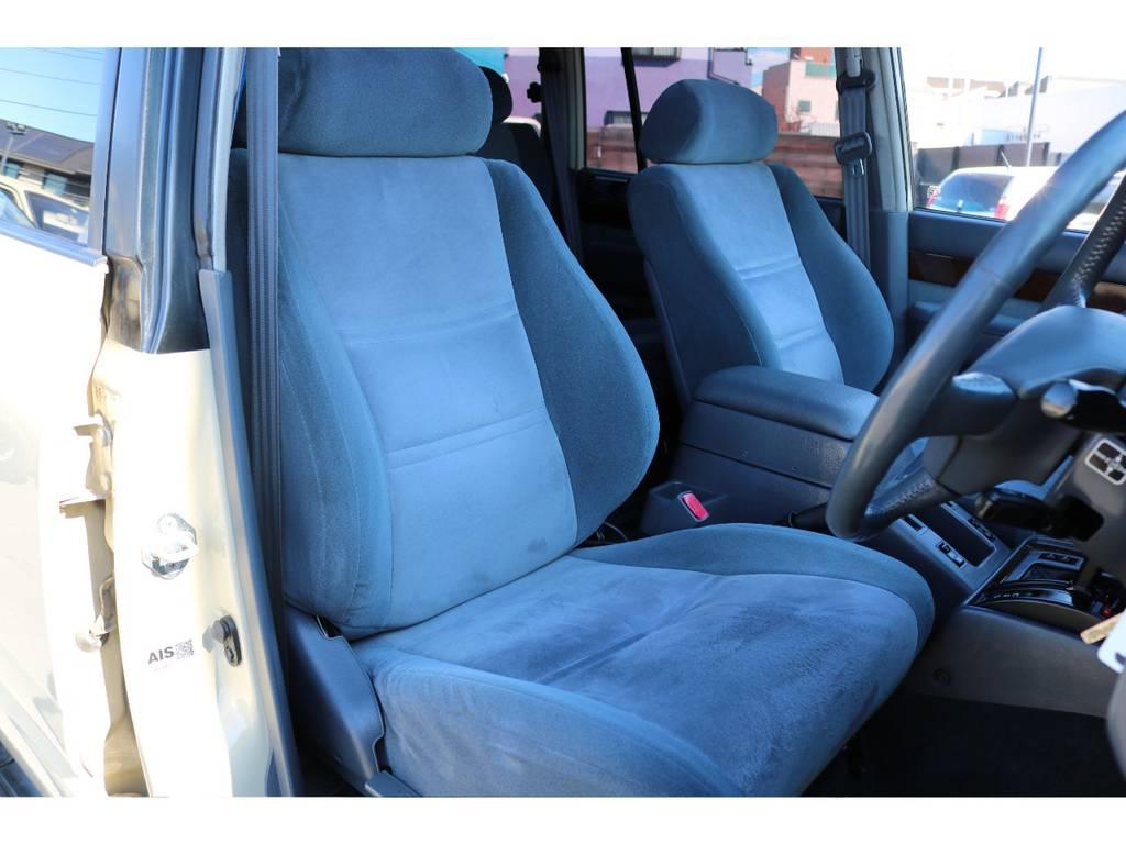 シートヒーター完備で、寒い季節も嬉しいアイテム! | トヨタ ランドクルーザー80 4.5 VXリミテッド 4WD