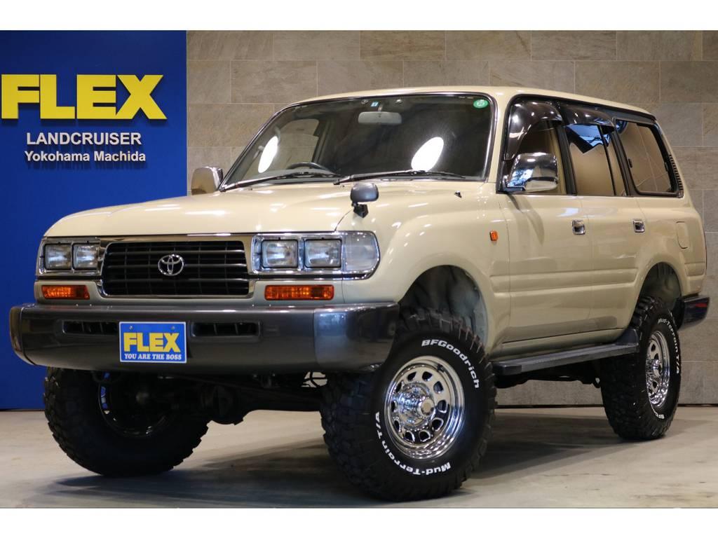 後期モデル!サンドベージュカラーペイント!ナローボディー&背面レス化!角目4灯フェイス!クリスタルウインカー! | トヨタ ランドクルーザー80 4.5 VXリミテッド 4WD