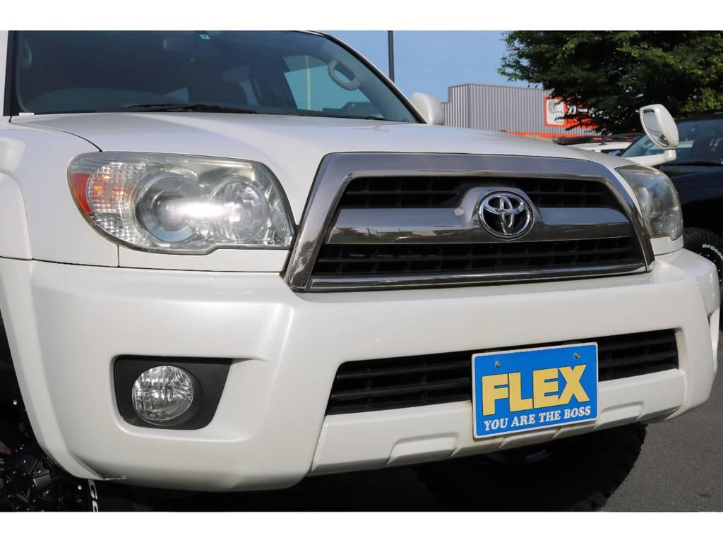 ヘッドライトの黄ばみも少なく綺麗な状態です! | トヨタ ハイラックスサーフ 2.7 SSR-X リミテッド 4WD