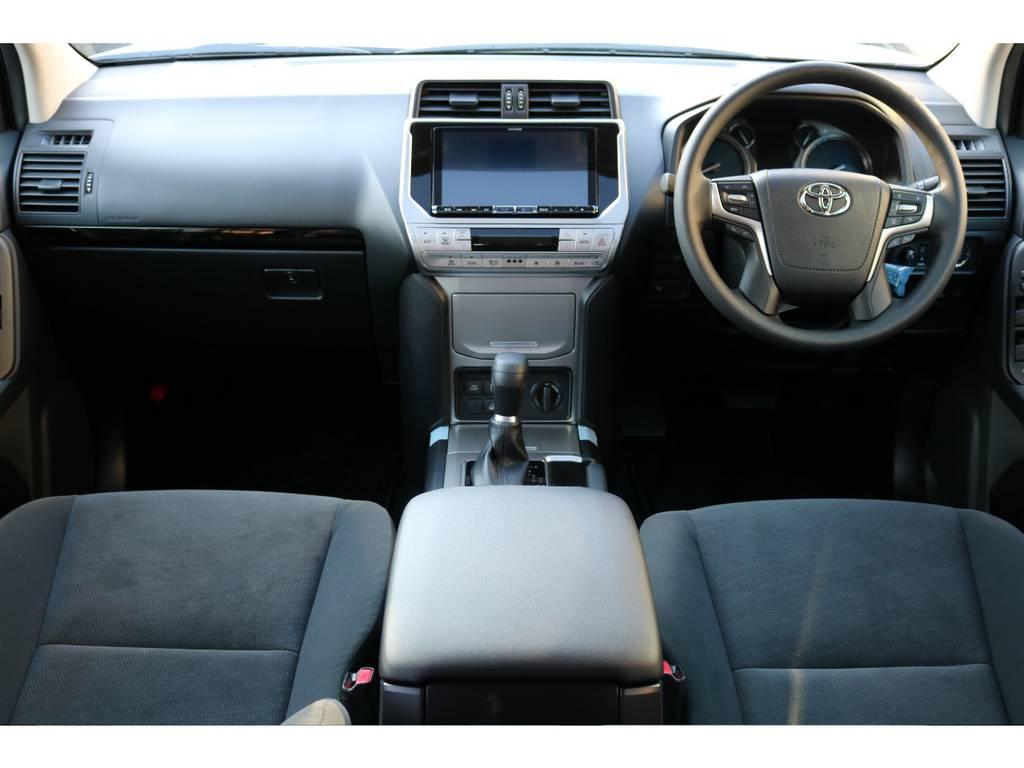現行モデルからインストール可能になった、BIG-X9インチナビを装着!ワイド画面による楽しいドライブを! | トヨタ ランドクルーザープラド 2.8 TX ディーゼルターボ 4WD 7人
