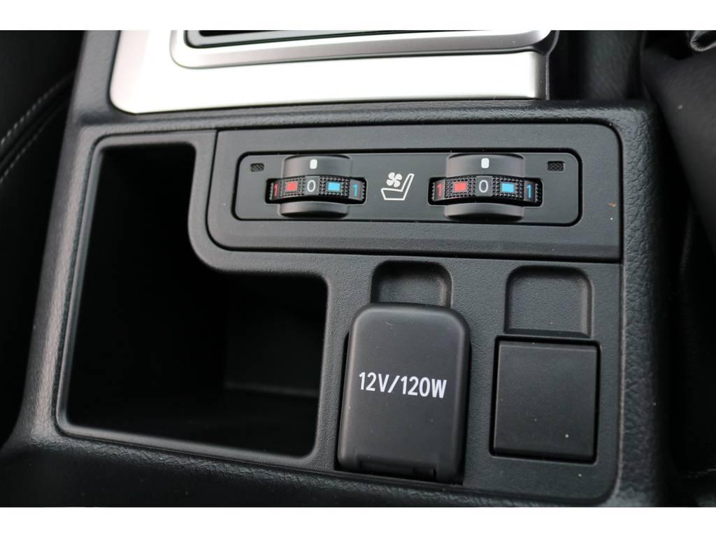 レザーシート車になると、シートヒーター&ベンチレーション機能も装備されます! | トヨタ ランドクルーザープラド 2.7 TX Lパッケージ 4WD 5人