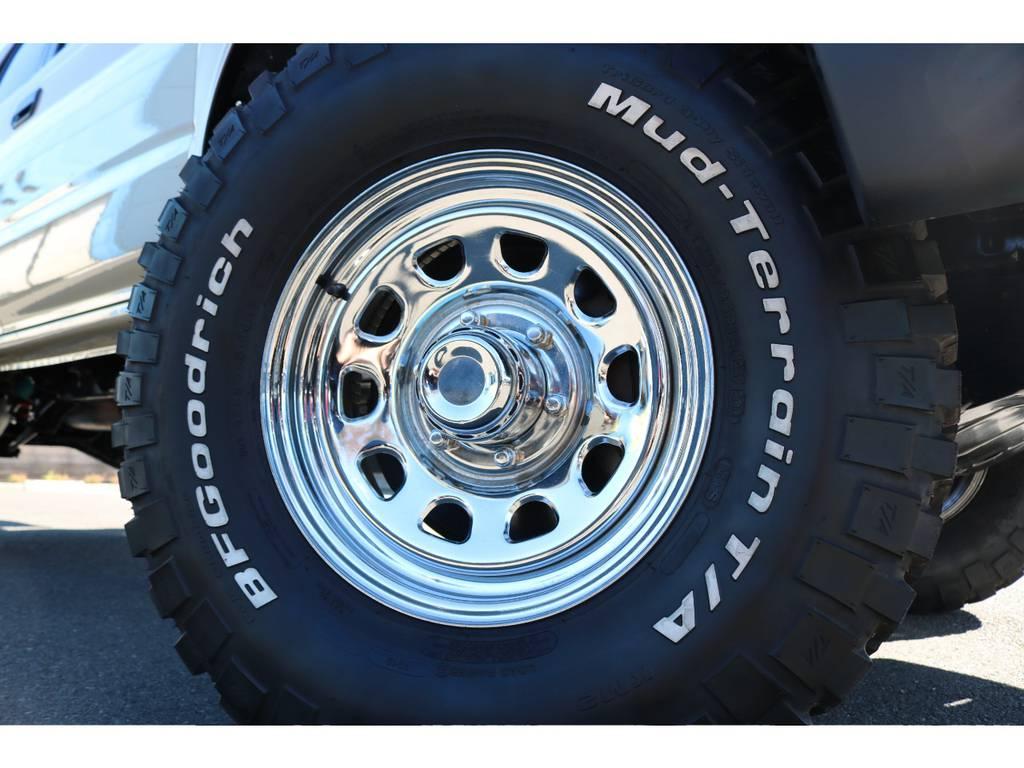 人気のデイトナ・クロームメッキ16インチホイールに、BFグッドリッチ255MTタイヤを組合せました!   トヨタ ハイラックスサーフ 2.7 SSR-G 4WD