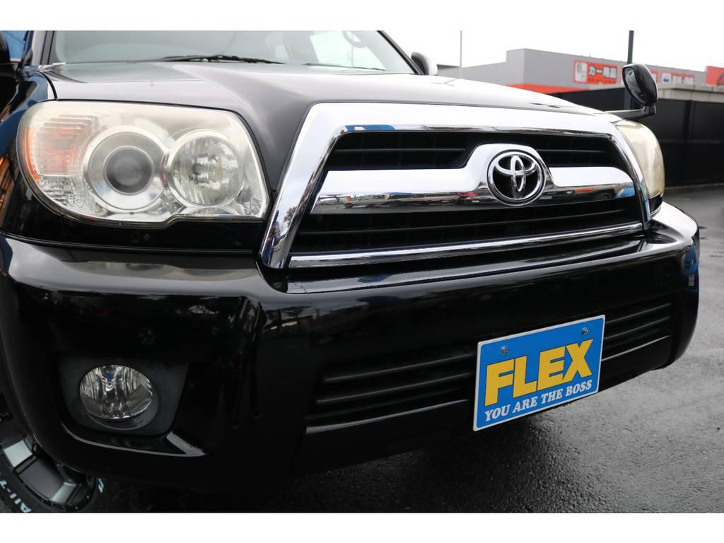 フロントグリルのメッキ等も綺麗な状態です! | トヨタ ハイラックスサーフ 2.7 SSR-X 4WD