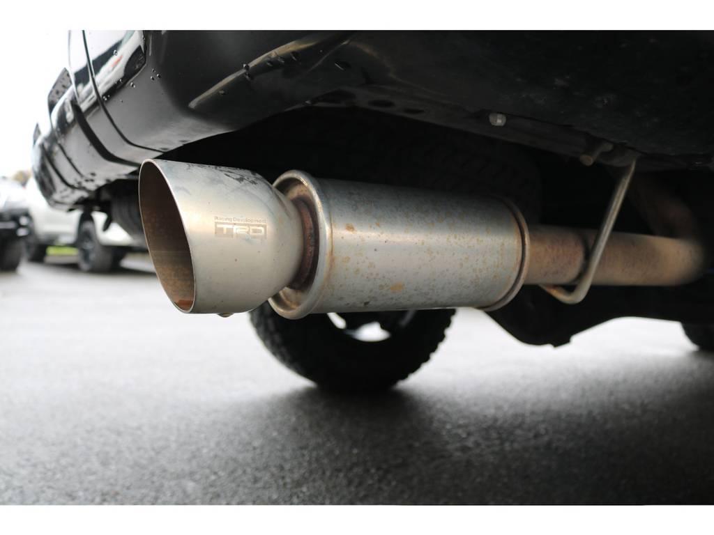 TRDマフラーが装着されております! | トヨタ ハイラックスサーフ 2.7 SSR-X 4WD