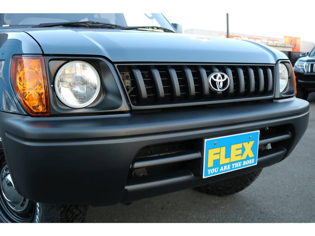 フロントグリルにヘッドランプ、バンパーも新品で交換済みです! | トヨタ ランドクルーザープラド 2.7 TX リミテッド 4WD