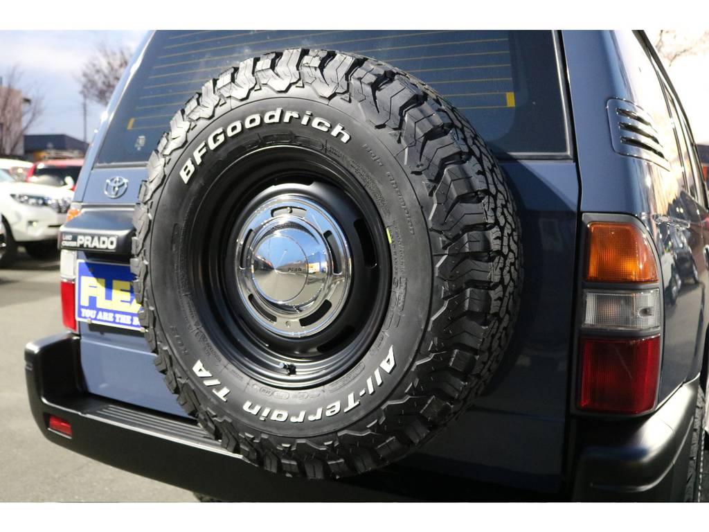 背面タイヤもDEAN16AW&BFグッドリッチ235ATタイヤに変更しました! | トヨタ ランドクルーザープラド 2.7 TX リミテッド 4WD