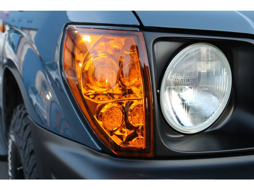 フロントもオレンジクリスタルウインカーを新品にて装着! | トヨタ ランドクルーザープラド 2.7 TX リミテッド 4WD