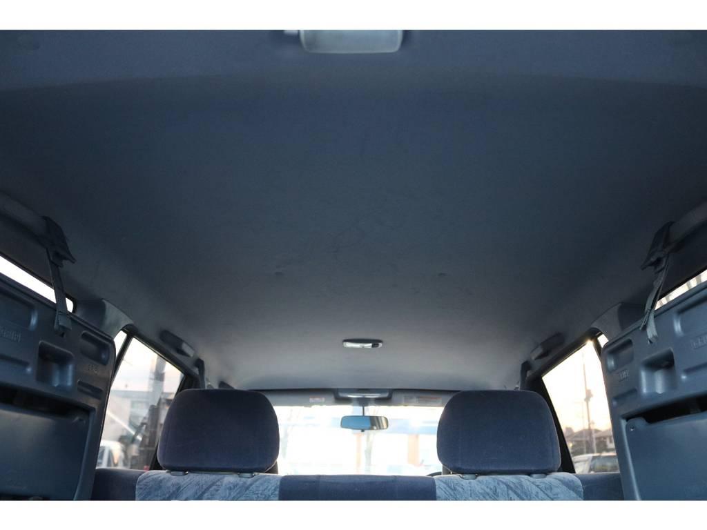 天井もご覧の通り綺麗な状態です!目立つ傷、汚れ等御座いません! | トヨタ ランドクルーザープラド 2.7 TX リミテッド 4WD