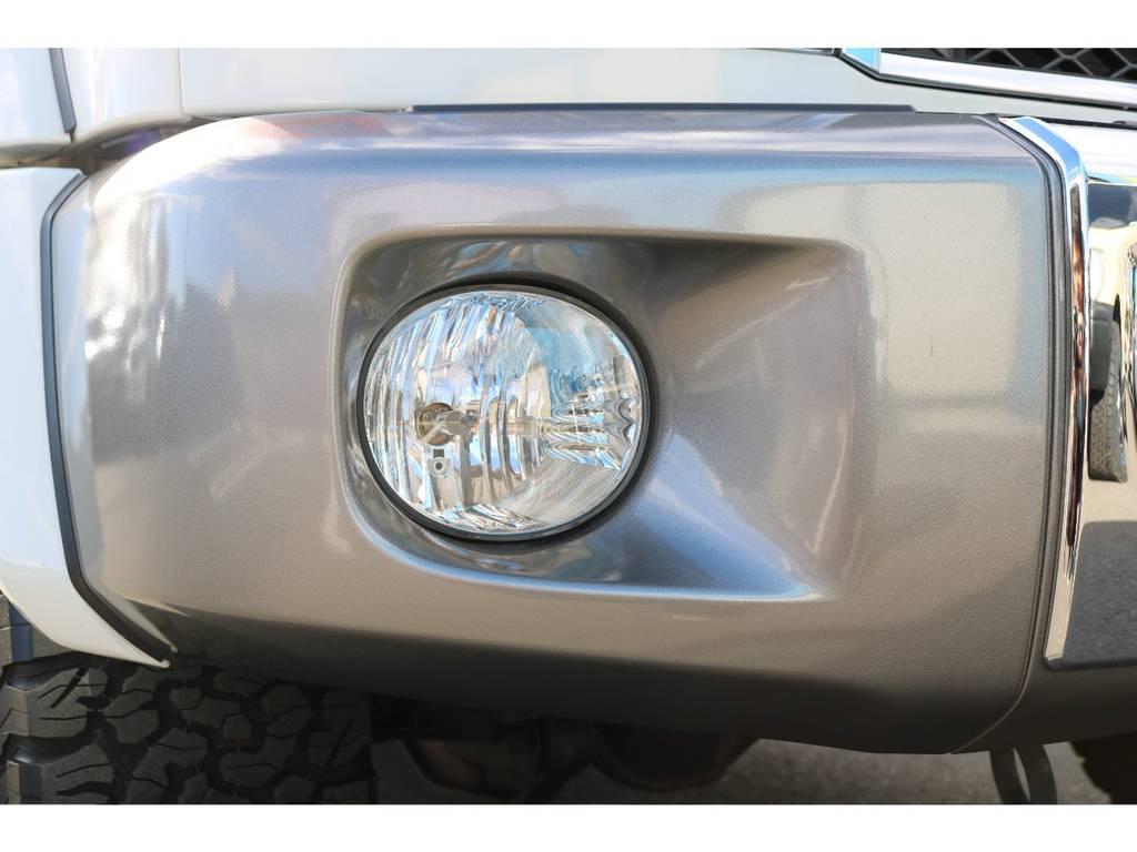 オプションのフロントフォグランプが装着済! | トヨタ ランドクルーザー70 4.0 4WD