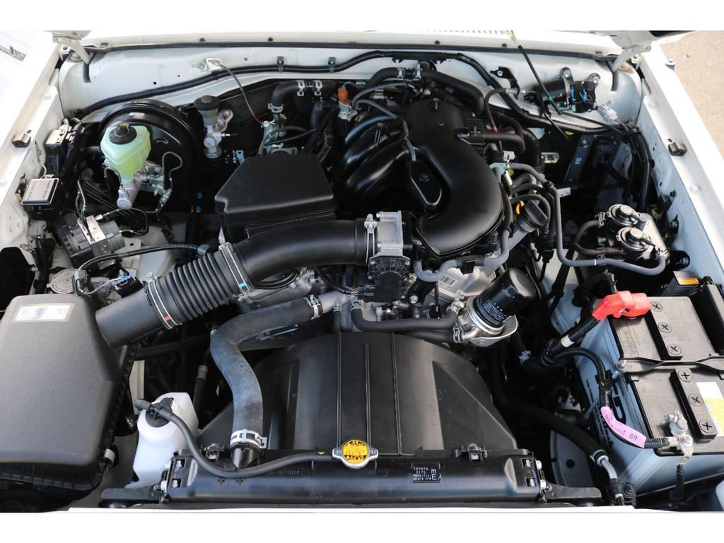 V6、4000ccの1GRエンジン!エンジンルームも綺麗な状態を維持しております! | トヨタ ランドクルーザー70 4.0 4WD